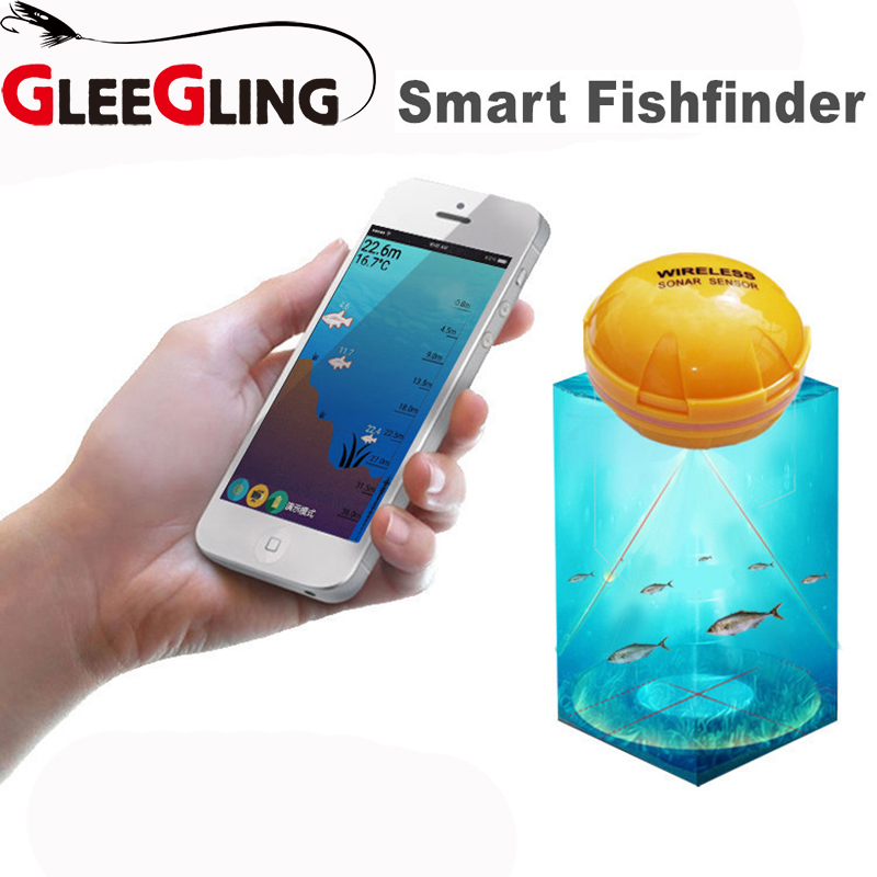 Wireless Fish Finder Portable Depth Fish Finder Bluetooth Underwater Fishing Camera Sonar Sensor Fish Finder yumeiqun