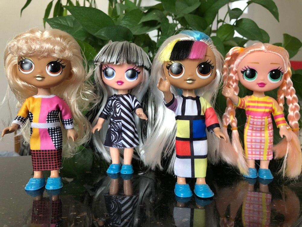 L.O.L.SURPRISE! LOL dolls Surprise toys O.M.G. Disco Dollie Fashion Doll Beautiful Hair Doll Generation Sister Girls Toys