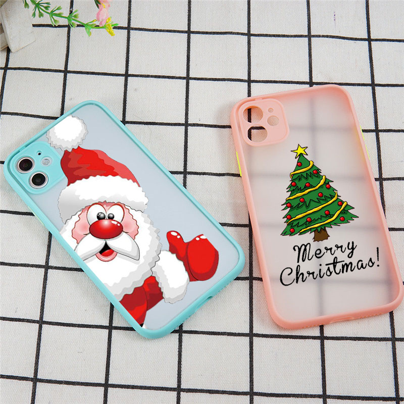 Christmas Tree Phone Case for IPhone 11 Pro X XR XS Max 8 7 6 6S Plus SE 2020 Snow Christmas Gift Elf Case Soft TPU Matte Cover