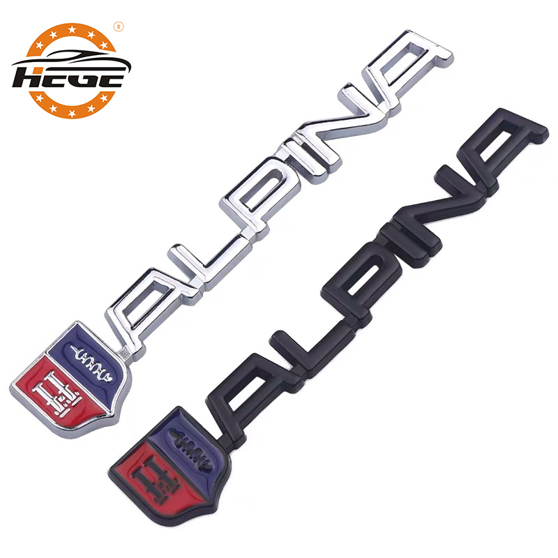 Car 3D metal Emblem Badge <font><b>sticker</b></font> for BMW Alpina Logo M M3 M5 E46 E90 E39 E60 F30 <font><b>F10</b></font> G30 E36 X1 X3 X5 Car body decal <font><b>stickers</b></font> image