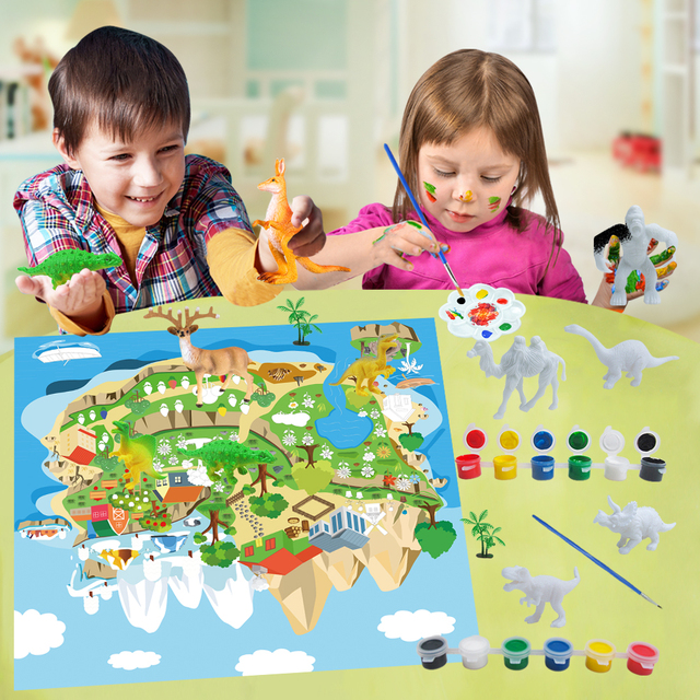 DIY Color 3D Painting Animal Colorful Model Drawing Graffiti Toy 2