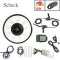 Schuck мощный велосипед 48V1500W переднее колесо Электрический велосипед мощный бесщеточный беззубчатый мотор имеет LCD5 дисплей eBike комплект