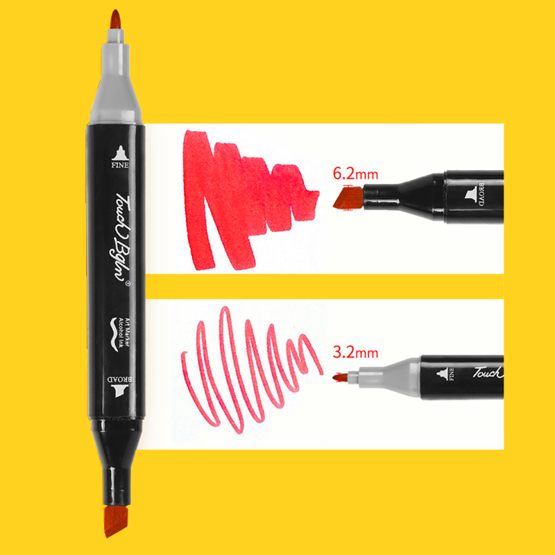 Clearance SaleArt-Markers-Set Art-Supplies Manga Double-Headed Artist Sketch School 168/204-Colors
