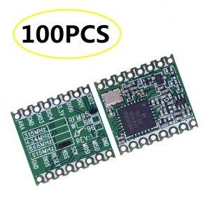 Image 1 - 100 個 RFM95 RFM95W 868MHZ 915MHZ LORA SX1276 無線トランシーバモジュール最高品質在庫工場卸売
