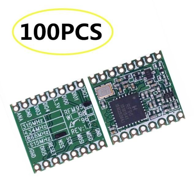 100 個 RFM95 RFM95W 868MHZ 915MHZ LORA SX1276 無線トランシーバモジュール最高品質在庫工場卸売