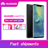 Global ROM HUAWEI Mate 20 Pro Waterproof IP68 40MP Mobile Phone Full Screen 4 Cameras Kirin980 Quick charger octa core FACE ID