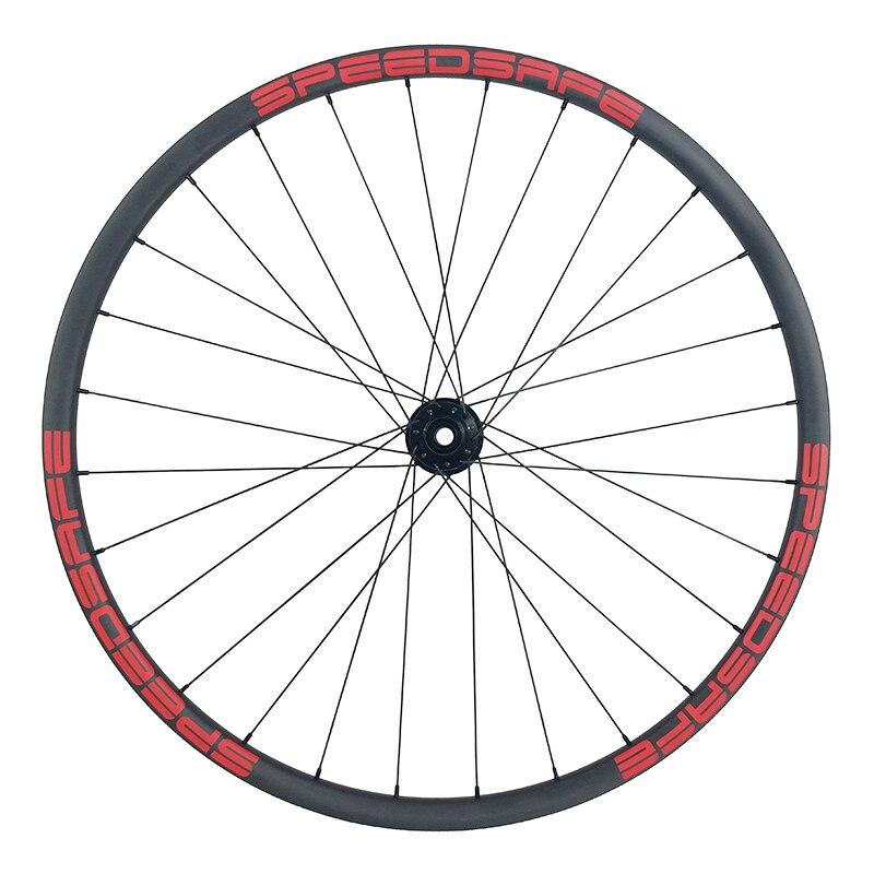 Image 4 - 29er MTB XC 30mm asymmetric carbon wheels 22mm deep clincher tubeless wheelset Novatec D791SB D792SB XDR UD 3K 12K 24H 28H 32Hclincher tubelesscarbon wheels29er mtb -