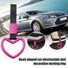 Auto-Strap Universal-Accessories Tsurikawa Plastic-Handle Heart Ring Jdm T3L8 1pcs Train