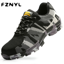 FZNYL Men Women Classics Style Hiking Shoes Lace Up Male Sport Shoes Outdoor Worker Driver Safety Shoes Trekking Sneakers 36-44