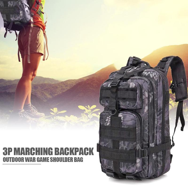 Hot Sale Outdoor Bags Classic Delicate 30L EDC Molle Bag Python Pattern Men Backpack for Outdoor Trekking Camping Black