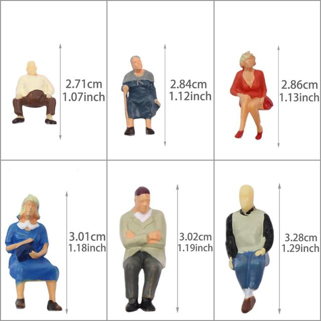 P4804 24 pcs All Seated Figures O scale 1:48 Painted People Model Railway NEW 2