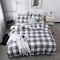 Домашнее постельное белье, наборы пододеяльников, милый дизайн в клетку, мягкий пододеяльник с принтом + Чехол на подушку, один и два размера