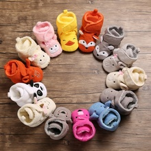 цены Newborn Baby Girl Boy Shoes Winter Warm Baby Snow Boots Toddler Soft Sole Anti-Slip Cute Booties Infant Prewalker Crib Shoes