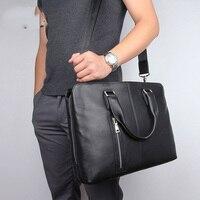 Men's Bag Business Briefcase Genuine Leather Large Men Messenger Bag Laptop Maletines Hombre Cuero Men's Briefcase For Laptop