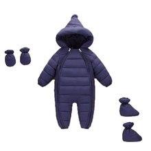 3 Stuks Herfst Winter Pasgeborenen Kleding Zuigelingen Donsjack Baby Jongens Meisjes Klimmen Warme Jas Peuter Verdikking Rompertjes Bovenkleding