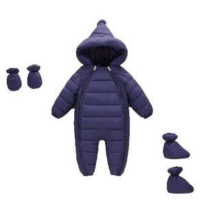 Image 1 - 3 uds. Ropa de Otoño Invierno para recién nacidos, chaqueta de plumas para bebés, niños y niñas, abrigo cálido para escalar, peleles gruesos para niños, prendas de vestir exteriores