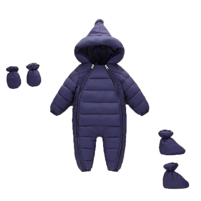 3pcs Autumn Winter Newborns Clothes Infants Down Jacket Baby Boys Girls Climbing Warm Coat Toddler Thickening Rompers Outerwear