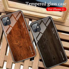 Wood Texture Tempered Glass Phone Case for iPhone 11 Pro Max X XS Max XR 7 8 6 6S Plus Soft Protective Luxury Back Cover Fundas wood texture tempered glass phone case for iphone 11 pro max x xs max xr 7 8 6 6s plus soft protective luxury back cover fundas