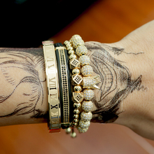 Men Bracelet jewelry 4pcs/set crown charms Macrame beads Bracelets Braiding Man Luxury Jewelry for women bracelet gift