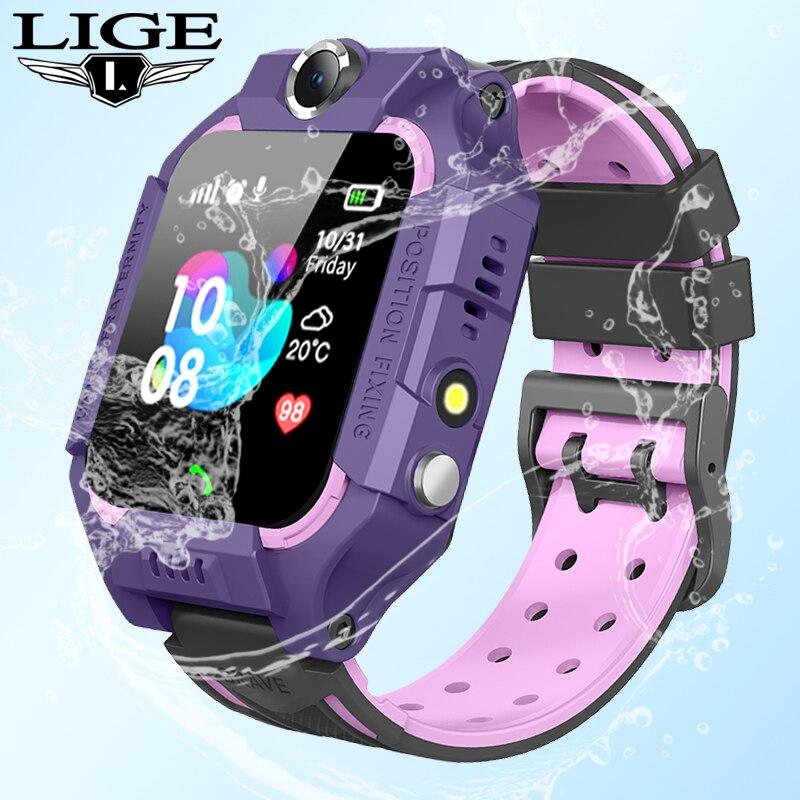 Tüketici Elektroniği'ten Akıllı Saatler'de LIGE 2020 yeni akıllı saat LBS çocuk akıllı saat bebek izle çocuk acil durum araması yer bulucu bulucu izci Anti kayıp monitör title=