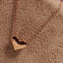 Heart Pendant Chain Necklace Women gold necklaces Fashion Women metal Heart Bib Statement heart Pendant gift for lover(China)