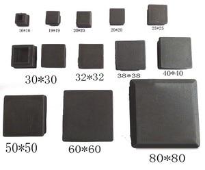 Image 1 - SQ1 Ống Vuông Lắp Đầu Nhựa Trống Ống Nhựa Cắm Chân Nắp, Ghế Bàn Chân Cắm 13,15, năm 16,19 Năm 20,22, 25,30 Năm 32,35, 38 40 Mm