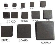 SQ1 כיכר צינור הכנס קצוות פלסטיק ריק צינור פלסטיק תקע רגל כובע, כיסא שולחן רגליים תקע 13,15, 16,19, 20,22, 25,30, 32,35, 38 40mm
