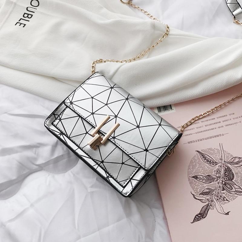 Women Fashion Shoulder Messenger Bags Ladies Geometric Plaid Crossbody Handbag Female Mini Flap Bag New Korean Style Tote SS0425 (4)