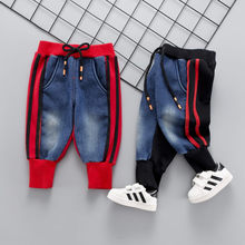 Brand Kids Cartoon Trousers Pant Fashion Girls Jeans Children Boys Hole Jeans Kids Fashion Denim Pants Baby Jean Infant Clothing cheap anrayan Solid Loose RY20190592XYF Full Length Unisex COTTON Casual Fits true to size take your normal size Batik Elastic Waist