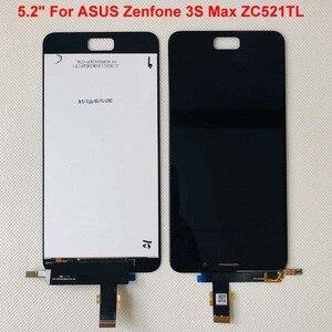 "Image 2 - Originele Beste Aaa 5.2 ""Voor Asus Zenfone 3S Max ZC521TL Lcd Touch Screen Digitizer Vervanging ZC521TL Lcd X00GD peg Asus Display"