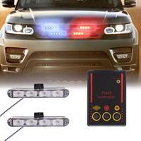 Luces estroboscópicas de advertencia para policía, luces de circulación diurna de 12V, 8W, 1 para 2 destello de luz LED, 4 LED, multimodo, deslumbrantes
