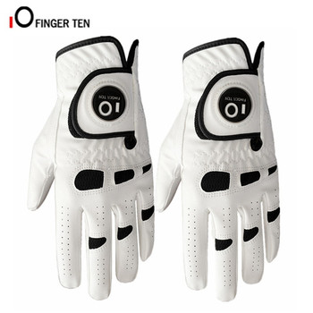 PU Leather Right Hand Golf Gloves Men's Left All Weather Grip With Ball Marker 2 Pcs/Set Soft Anti-slip Sports Size S M ML L XL