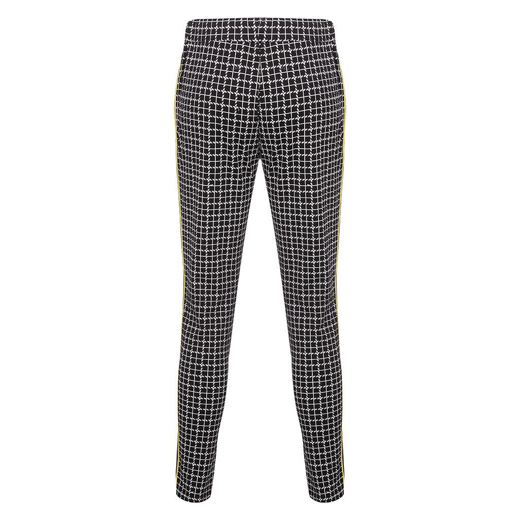 Apparel - Stripe Splicing Pocket Sport Work Casual Trouser Pants
