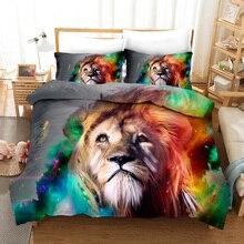 Art Lion 3D Bedding Set Duvet Cover Set Bedding Set Luxury Twin Full Queen King Size Comforter Set Bed Set Dropshipping