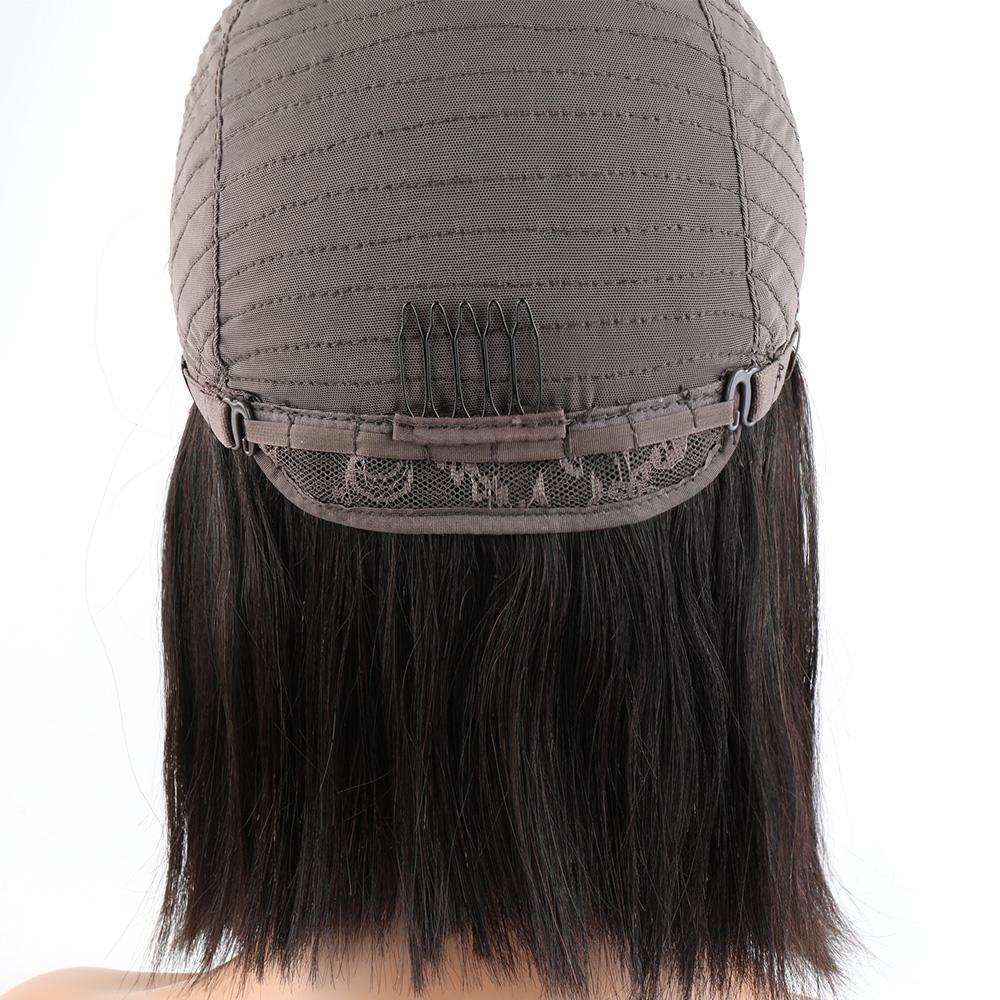 reta bob peruca do cabelo humano brzilian