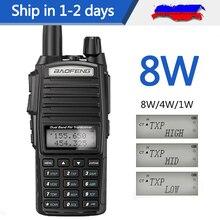2020 baofeng UV-82 mais 8 w 10km de longa distância poderoso walkie talkie portátil cb vhf/uhf ptt rádio em dois sentidos amador 8 watts de uv82