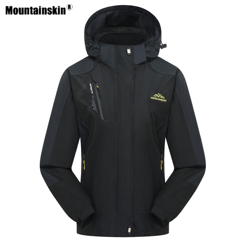 Mountainskin Women's Winter 2 Pieces Softshell Fleece Jackets Outdoor Sports Waterproof Thermal Hiking Skiing Female Coats RW015