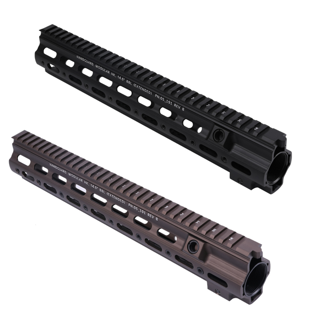 Aluminum Coat Anodized GT 416 14.5 Inch M-LOK MOD Lite Handguard Rail System For AR AEG Airsoft M4A1 Paintball Receiver Gearbox