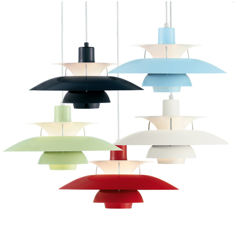 Image 5 - Nordic Led Loft Pendant Light Colorful Umbrella Hanging Lamp for Dining Room Kitchen Suspend Hanglamp E27 Home Lighting Fixtures-in Pendant Lights from Lights & Lighting