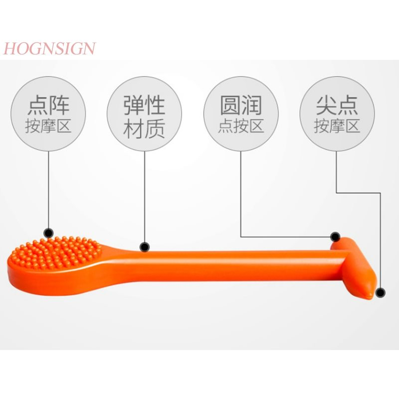 massage hammer Meridian Clapper Silicone Rubber Body Massage Stick Hammer Beat Fitness Health Pat Sha Board Sand Massager 1