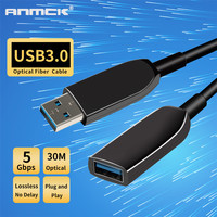 Anmck USB 3.0 Extension Cable 5M 10M 15M 20M 30M 35M Optical Fiber Male To Female USB To USB Extender Cord For Laptop