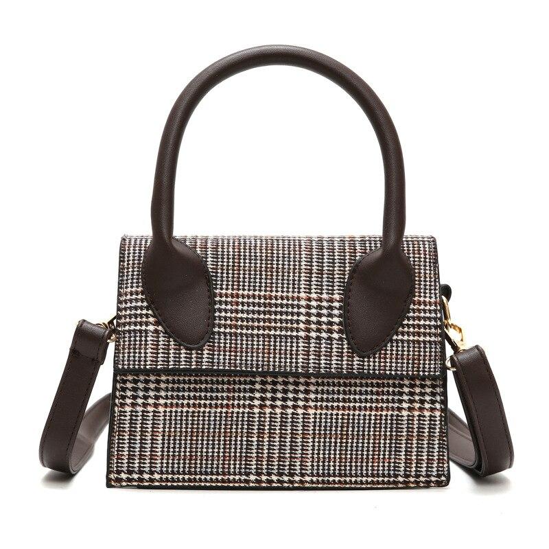 Ladies Crossbody Bag Printing Package Cover Type Leopard Plush Adjustable Shoulder Strap Korean Style Totes