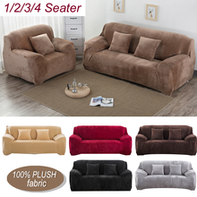 universal elastic sofa covers for living room all inclusive stretch sectional slipcovers couch cover sofa cover 1 2 3 4 seater Thicken Plush Universal Sofa Cover for Living Room Elastic Couch Cover Sectional All-inclusive Slipcovers 1/2/3/4 Seater