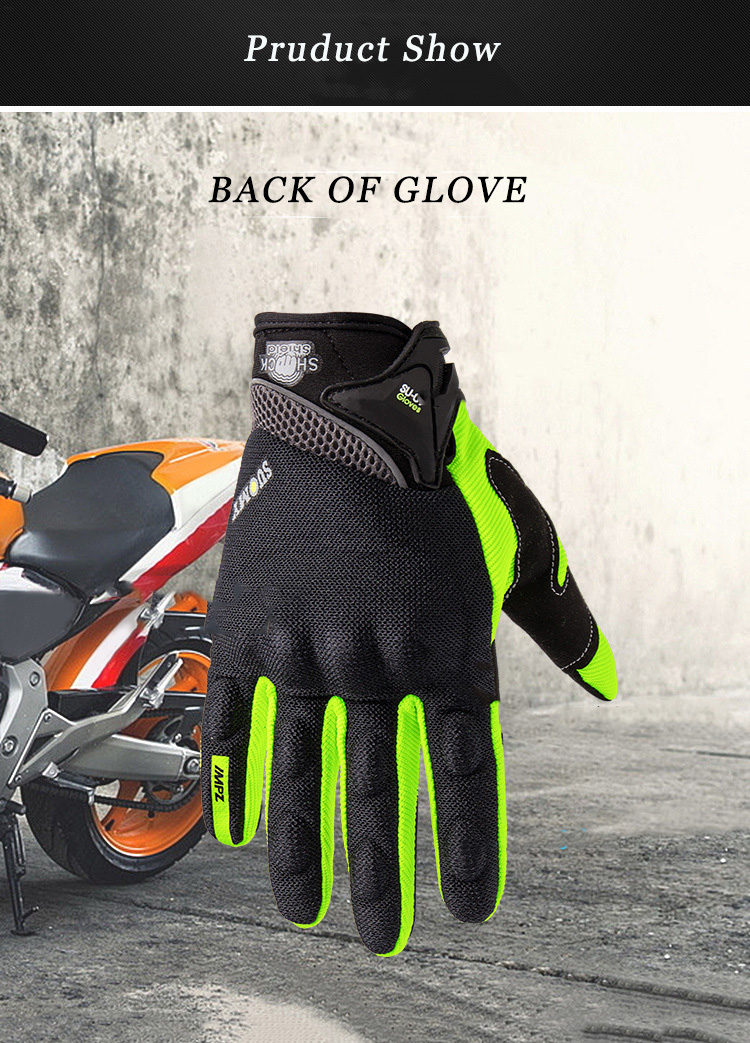 Motorrad Handschuhe männer/frauen Motocross Handschuhe Volle Finger Guantes Gant Moto Handschuhe Reiten Motorräder Sommer Grün Schwarz Orange