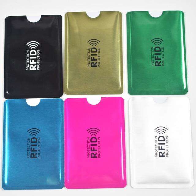 10 Stks/partij Anti Rfid Blocking Reader Lock Bank Kaarthouder Id Bank Card Case Rfid Bescherming Metalen Credit Kaarthouder aluminium