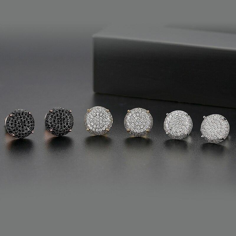 Star Jewelry Fashion White Gold Plated Cubic Zirconia Rhinestone Women Earring Jackets