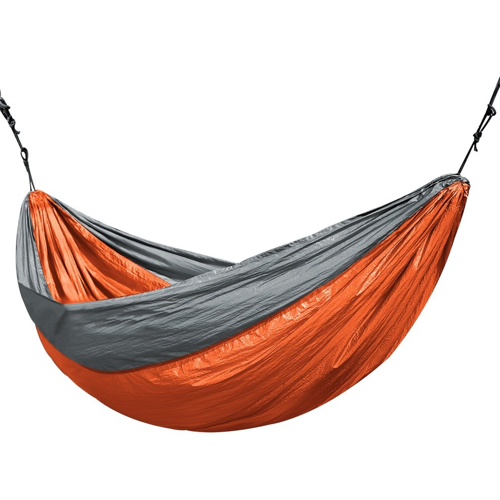 Universal 3.2x2M Larger Size Double Color Nylon Camping Hammock Lightweight Portable Summer Beach Travel Hammock