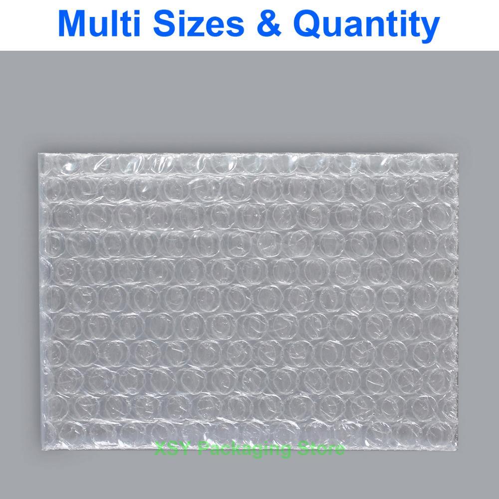 """Прозрачные Пузырьковые пакеты пластиковые упаковочные конверты мусорные мешки (ширина 4 """"-7,5"""") x (длина 6 """"-12"""") эквалайзер. (105-190 мм) x (155-295 мм)"""