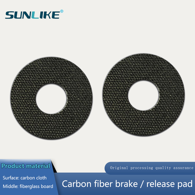 Customized CNC Cutting 1pcs Carbontex  Drag Washer For Fishing Reels Carbon Fiber Washer 1.0mm