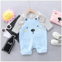 2019 Autumn Baby Infant Clothes Suits Toddler Girls Clothing Sets  Striped t Shirt  Bib Pants Kids Children Costume Suit цена в Москве и Питере